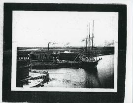 Photograph of Canning Harbour and Halle Bigelow's boat, Mabel B.