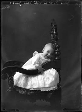 Photograph of the baby of Mrs. Robert Maxwell