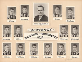 Photographic collage of the Dalhousie University dentistry class of 1963