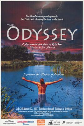 The Odyssey / adapted by Rick Chafe [signed posters]