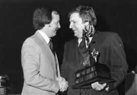 Photograph of Peter Esdale and Ken Bellemace : Coach of the Year award presentation