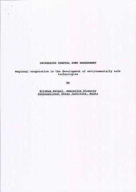 Krishan Saigal: papers and reports regarding ecology and coastal development and sustainability