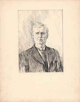 Richard Chapman Weldon, LL.D. Dean of the Law School, 1883–1914 : [drawing]