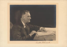 Photograph of Franklin D. Roosevelt, American President