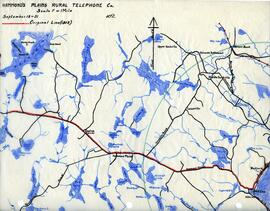 Map of Hammonds Plains Rural Telephone Company's telephone line