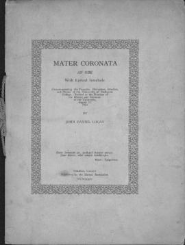 Mater coronata : an ode with lyrical interlude