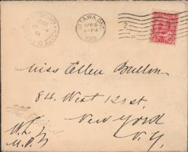 Envelope from Sir Wilfrid Laurier to Ellen Ballon