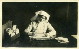 Laura May Hubley in her office