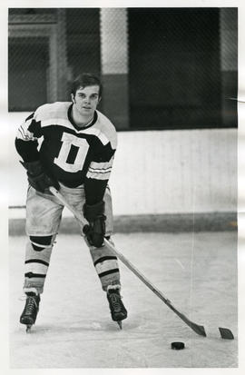 Photograph of Doug Chapman of the Dalhousie University hockey team