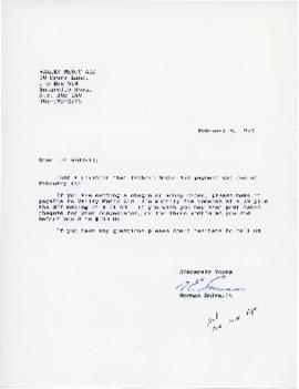 Correspondence between Dr. Raddall and Norman Amirault