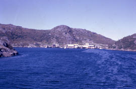 Photograph taken from a boat in Battle Harbour, Newfoundland and Labrador