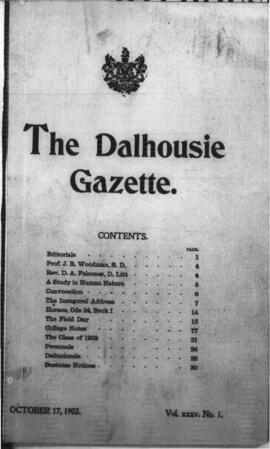The Dalhousie Gazette, Volume 35, Issue 1