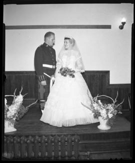 Photograph of Mr. & Mrs. Leil at their wedding