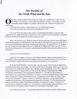 The parable of the north wind and the sun