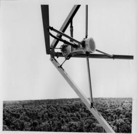 Photograph of a close up view of the launching unit at Ben Eoin G.E.C. repeater station