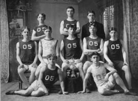 Photograph of the 1905 Dalhousie University Basketball team