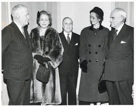 Photograph of A.E. Kerr, Lady Dunn, and others