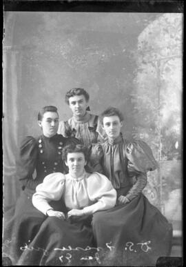 Photograph of the daughters of Mr. D.S. Fraser