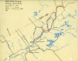 Maps of Dean Mutual Telephone Company's telephone line