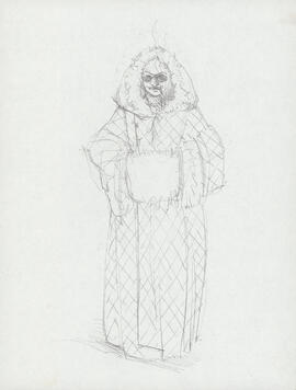 Costume design for man with muff