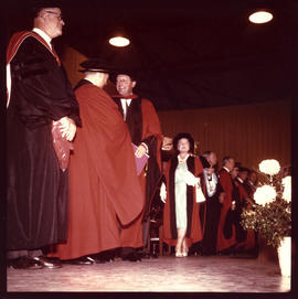 Photograph of Faculty of Medicine Convocation 1967 - Queen Mother Elizabeth