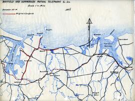 Map of Bayfield and Summerside Mutual Telephone Company telephone line