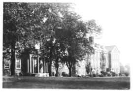 Photograph of the science building and Macdonald Memorial Library