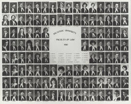 Composite photograph of Faculty of Law graduates of 1980