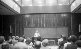 Photograph of Mr. Perisham giving a talk