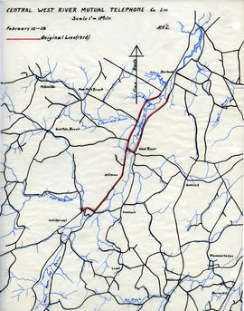 Maps of Central West River Mutual Telephone Company's telephone line