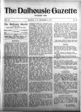 The Dalhousie Gazette, Volume 51, Issue 20