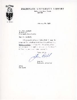 Correspondence between Thomas Head Raddall and Dalhousie University
