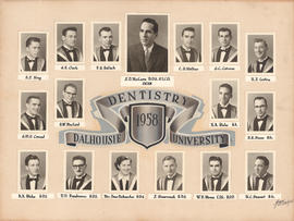 Photographic collage of the Dalhousie University dentistry class of 1958