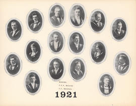 Composite Photograph of the Faculty of Medicine - Class of 1921