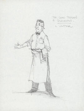 Costume design for waiter