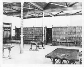 Photograph of the law library in the Forrest Building