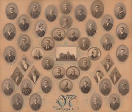 Photographic collage of the Dalhousie University Arts and Science faculty and class of 1907