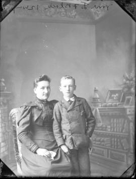 Photograph of Mrs. D. F. Black and her son