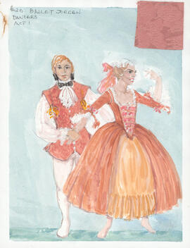 Costume design for Dancers : Act 1