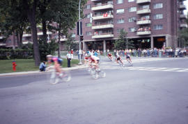 Photograph of a bicycle road race