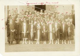 Photograph of the Dalhousie University class of 1925 at convocation