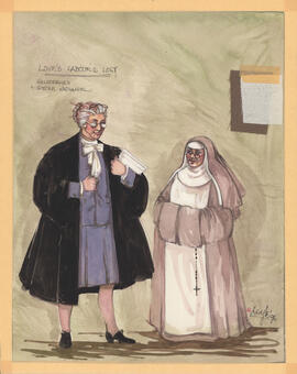 Costume design for Holofernes and Sister Nathaniel