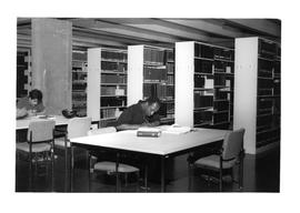 Photograph of a study area in the stacks in the Killam Memorial Library