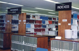 Photograph of the Reference and Index stacks at the Killam Memorial Library, Dalhousie University