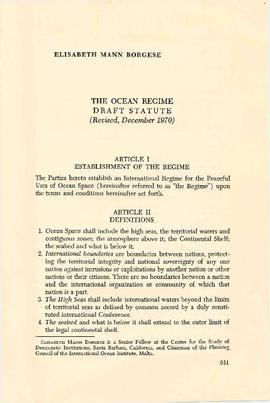 The ocean regime : draft statute