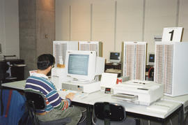Photograph of computer terminals at the Killam Memorial Library, Dalhousie University