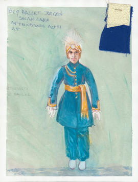 Costume design for Attendants at the Ball : Act 3