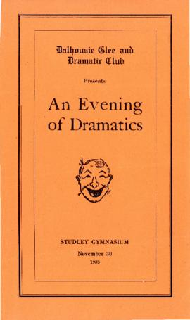 "Program from the Dalhousie Glee and Dramatic Club's production of ""An Evening of Dramatics"""