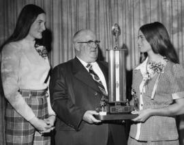 Photograph of Joan Selig recieving special award