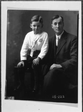Photograph of William McDonald and his son